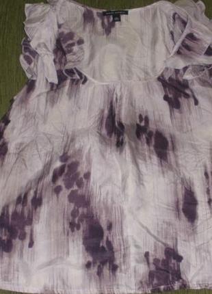Женская блуза шелковая кофта большого размера 100% шелк banana republic /р l1