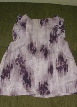 Женская блуза шелковая кофта большого размера 100% шелк banana republic /р l2