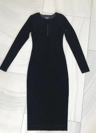 Велюровое платье nasty gal.4