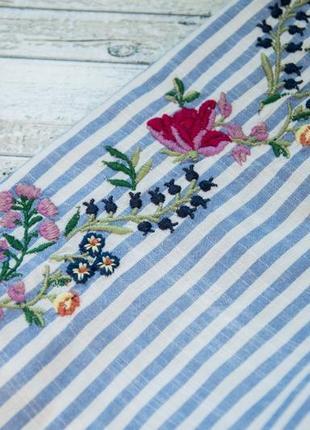 Котоновая блуза с вышивкой в полоску dorothy perkins2