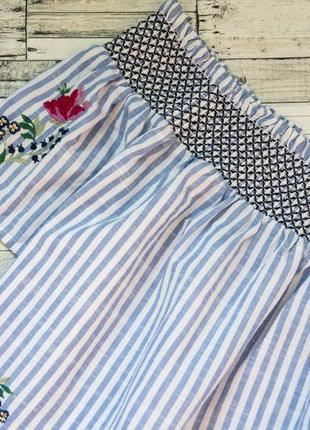 Котоновая блуза с вышивкой в полоску dorothy perkins3