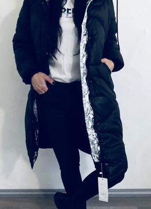Куртка-пуховик. довга. якісна фурнітура є (капішон золото і срібло)2