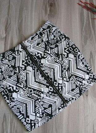 Коттоновая юбка divided & h&m размер eur 38