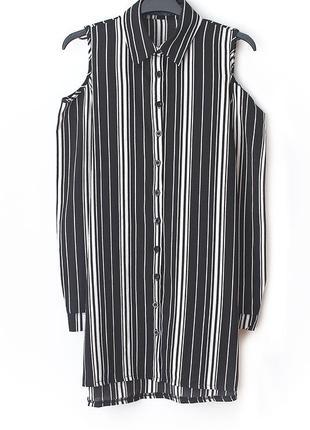 Удлиненная рубашка с открытыми плечами  • р-р s1