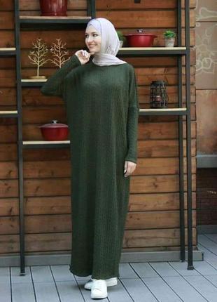 Вязаное платье абайка1