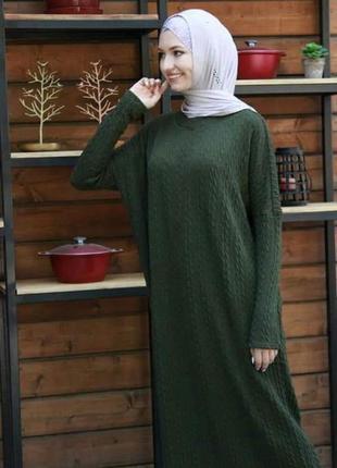 Вязаное платье абайка2