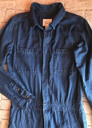 Актуальный джинсовый комбинезон3