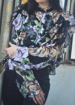 Рубашка с рюшами1