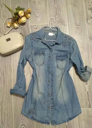 Джинсовая рубашка1
