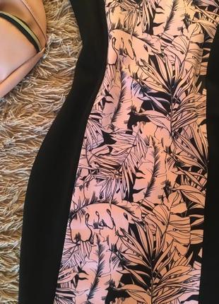 Супер цена!восхитительное платье-миди,принт «тропики» 8 размер2