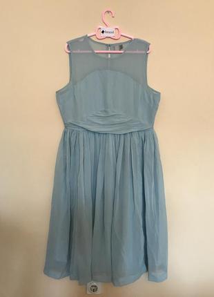 Платье миди с присборенной вставкой asos3