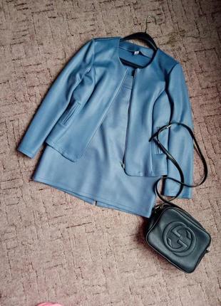 Костюм / серый костюм / юбка и пиджак1