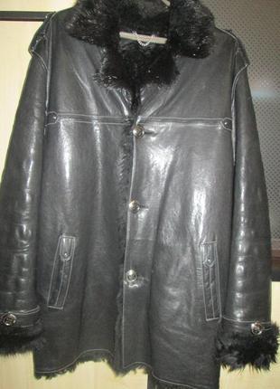 Мужская натуральная куртка-дубленка