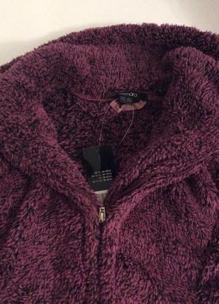 Тёплая плюшевая кофта teddyfleecejacke р.48 цвет ягодный4