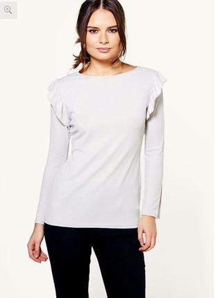 Новая#блуза#лонгслив#лапша# беллая🍁🍁🍁размер 12