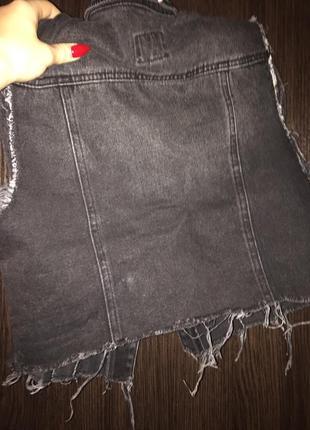 Жилетка сірий джинс3