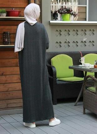 Вязаное платье абайка3