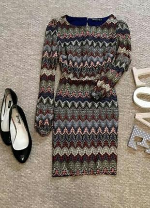Вечернее нарядное или на каждый день платье в очаровательный узор1