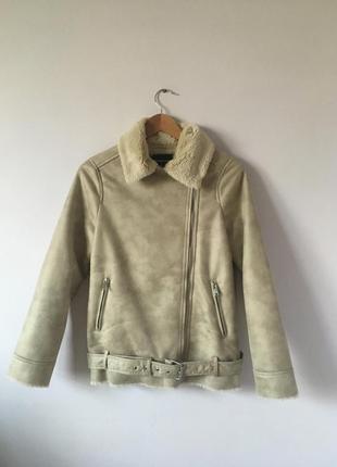 Новая куртка-дубленка stradivarius3
