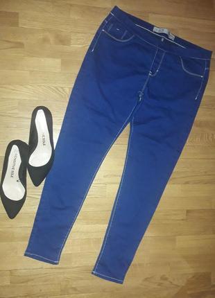 Стрейчевые джинсовые лосины леггинсы 14 р-р