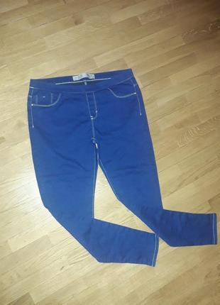 Стрейчевые джинсовые лосины леггинсы 14 р-р2