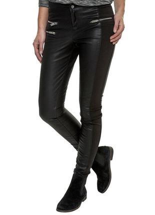 Кожаные штаны брюки леггинсы экокожа1