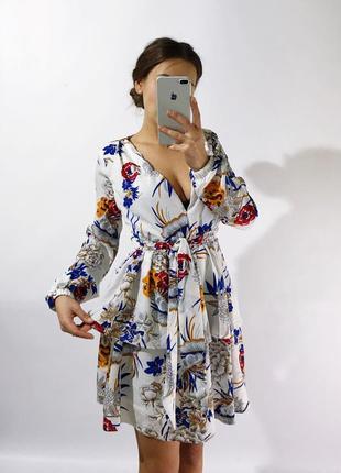 Цветочное красивое платье2