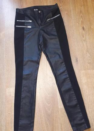 Кожаные штаны брюки леггинсы экокожа3