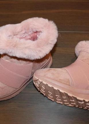 Ботиночки женские зимние пудра код с7033
