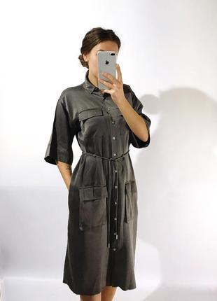 Шикарное стильное шёлковое платье1