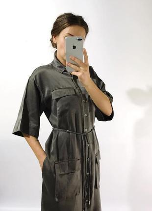 Шикарное стильное шёлковое платье2
