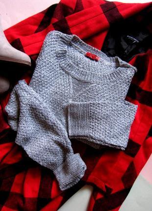 Актуальный свитер крупной вязки diversi1