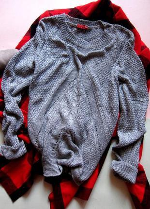 Актуальный свитер крупной вязки diversi2