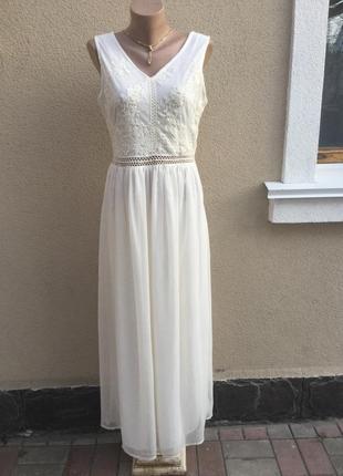 Белое,вечернее,нарядное платье,можно фотосессия ,сарафан,кружево,вышивка1
