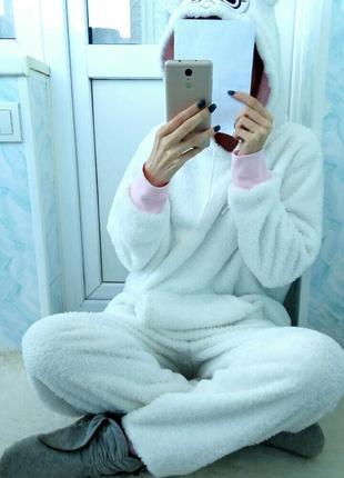 Супер мягкая\пушистая милая пижама\домашний костюм f&f с мехом