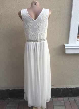 Белое,вечернее,нарядное платье,можно фотосессия ,сарафан,кружево,вышивка5