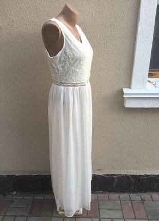 Белое,вечернее,нарядное платье,можно фотосессия ,сарафан,кружево,вышивка4