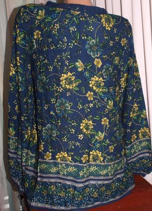 Шикарная блуза (л замеры) натур. состав, с узором, превосходно смотрится3
