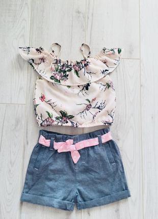 Шортики і блуза для дівчинки