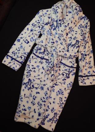 Шикарный плюшевый женский халат.  размер l,xl.1
