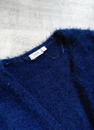 Синий кардиган травка3