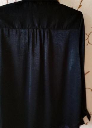 Шикарная блуза с переливом h&m длинный рукав 14-16 размер4