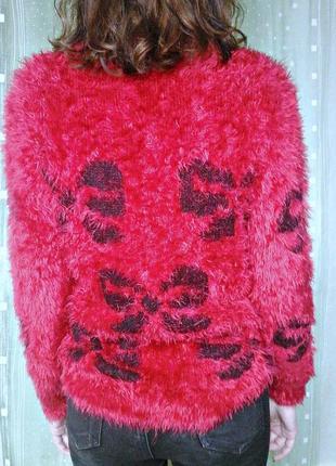 Пушистый свитер (травка) яркой расцветки3