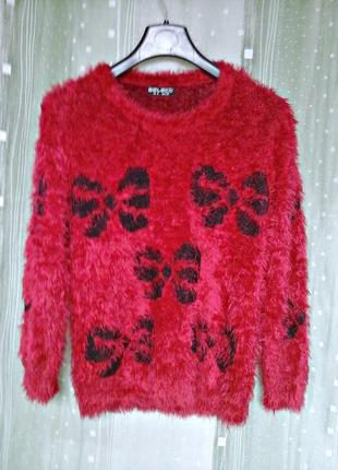 Пушистый свитер (травка) яркой расцветки4