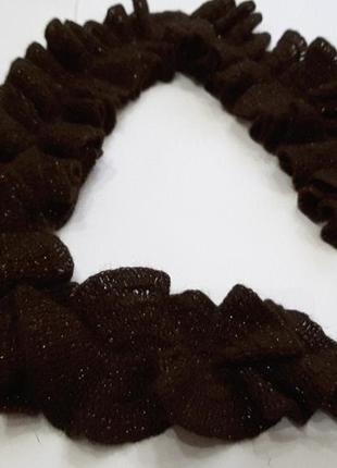 Мегамодный шарфик цвета кофейных зёрен 145 см2