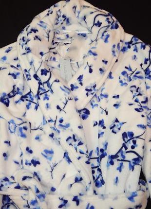 Шикарный плюшевый женский халат.  размер l,xl.4