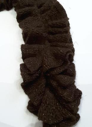 Мегамодный шарфик цвета кофейных зёрен 145 см3