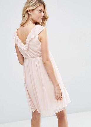 Платье мини с v‑образным вырезом asos2