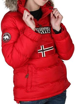 Куртка болид красная geographical norway оригинал зимняя1
