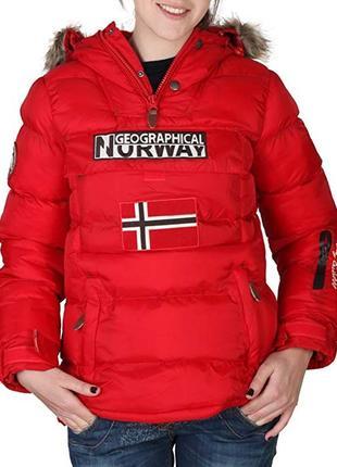 Куртка болид красная geographical norway оригинал зимняя2